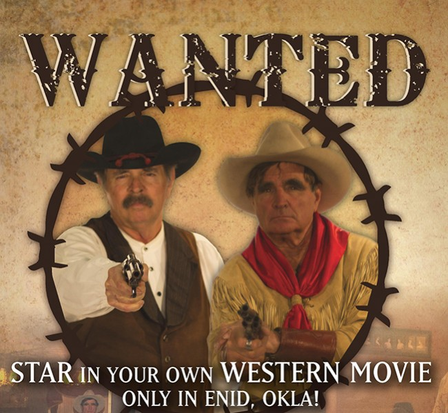 Star in your own Western movie in Enid