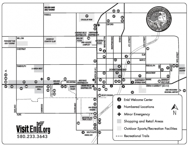 Enid map and directory