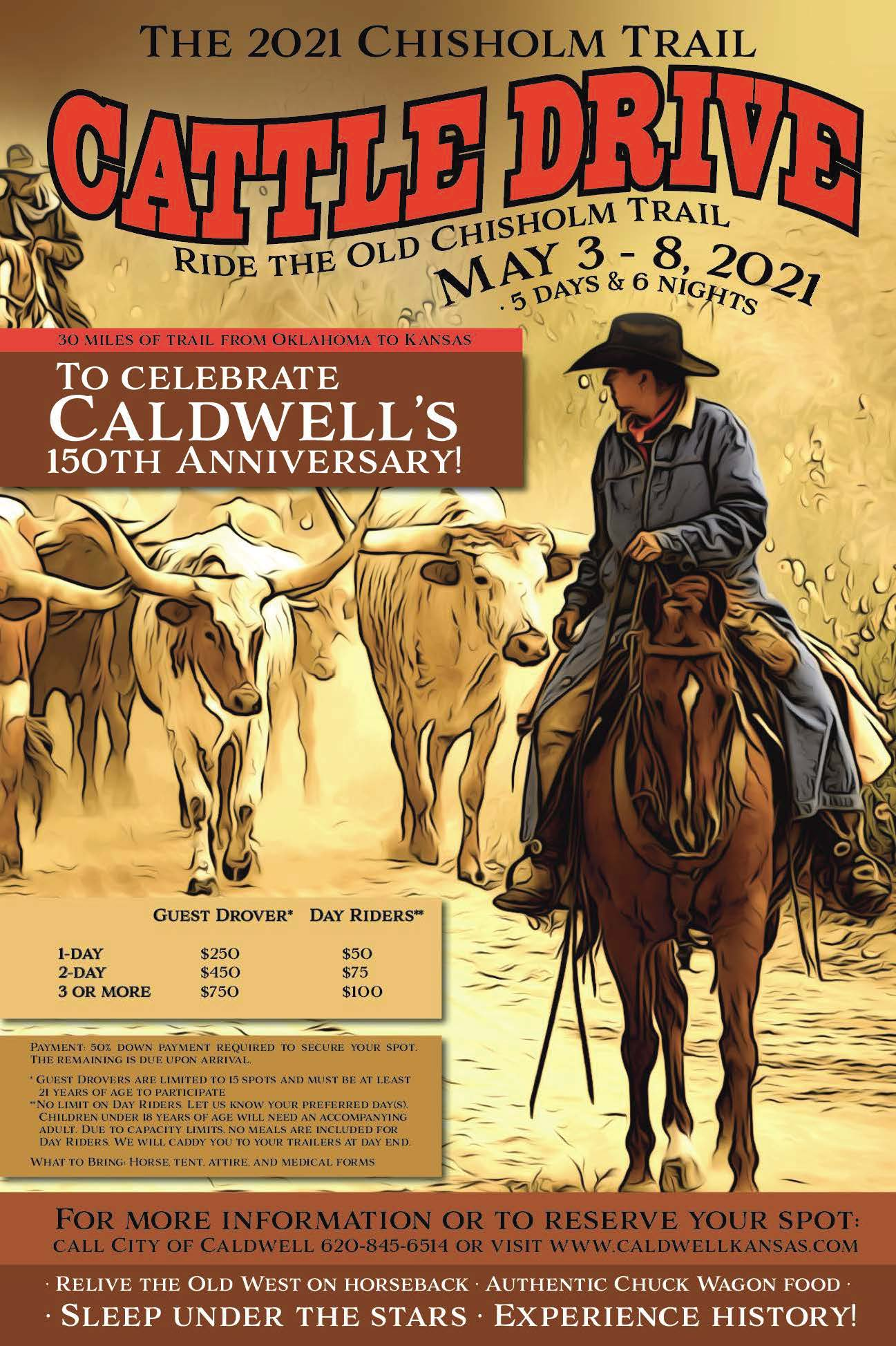 Chisholm Trail Cattle Drive